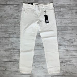 DL 1961 White Florence Cropped Jeans Size 30 NWT